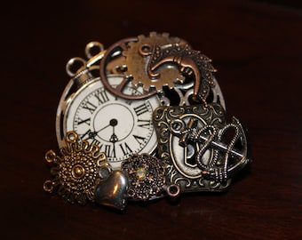 CLEARANCE 40% OFF- A0035-Steampunk Pin/Broche/Necklace