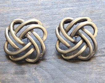 grunge vintage 1990's earrings, grey earrings, 1990's earrings, grunge style jewelry