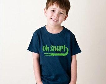 Funny Toddler Shirt - Back to School Shirt - Toddler Boy Shirt  - Alligator Shirt - Oh Snap Shirt - Little Boy's Shirt - Cute Boy's Shirt