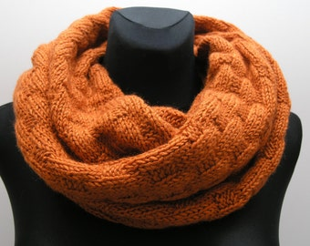 infinity scarf of merino wool