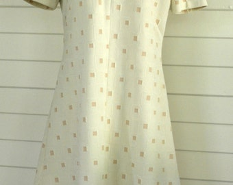 1960s/1970s Vintage Shift Dress; Size 12