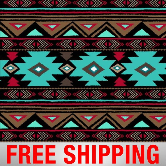 Fleece Fabric Native American Turquoise 60 Quot Wide Free
