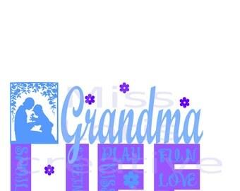 Grandma Life   kisses love sweetness  SVG Cut file Grandma svg, Love svg, Life svg, Mothers day svg, cricut cameo Commercial use