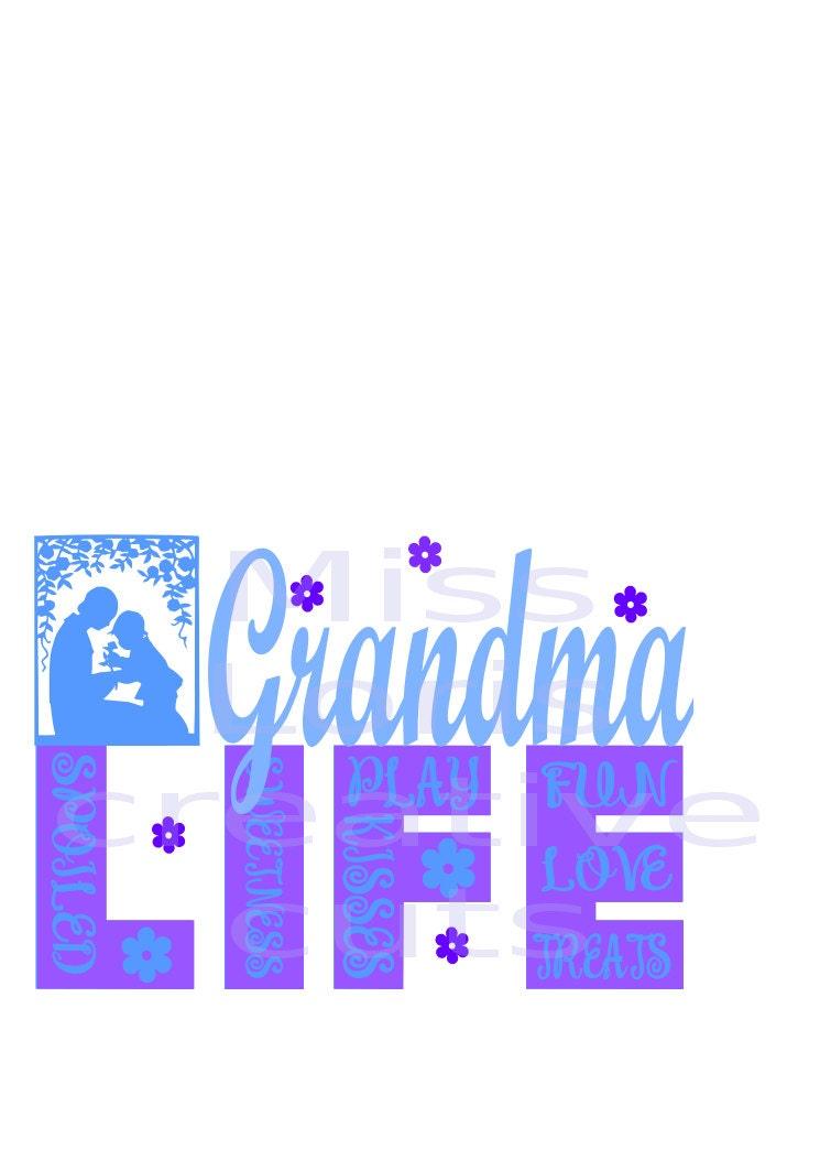 Download Grandma Life kisses love sweetness SVG Cut file Cricut