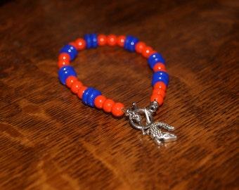 """7"""" Beaded Alligator Bracelet"""