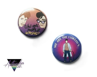 I Love the '80s One Inch Pinback Button Set