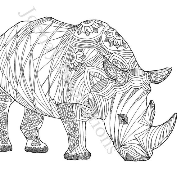 Adult Coloring Book, Printable Coloring Pages, Coloring Pages, Coloring Book for Adults, Instant Download, Amazing Animals 2 page 8