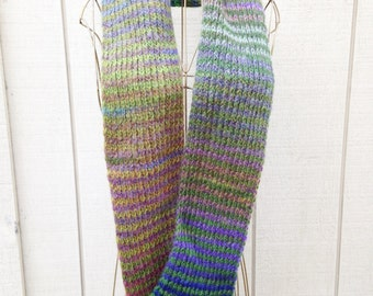 Handknit Scarf - Original design striped scarf