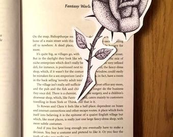 Black & White Rose Bookmark (Original Art)