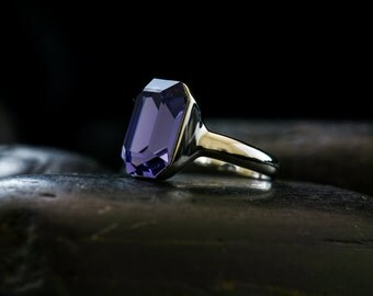 Tanzanite Dreams Swarovski Crystal Statement Ring
