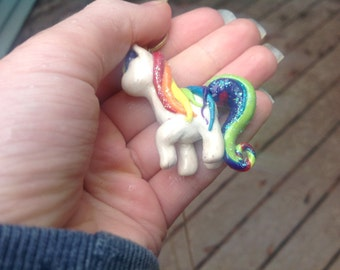 Polymer Unicorn Charm