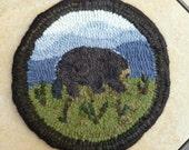 Mountain Bear Rug Hooking Kit