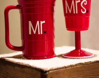 Mr. & Mrs. Red Solo Cup Set