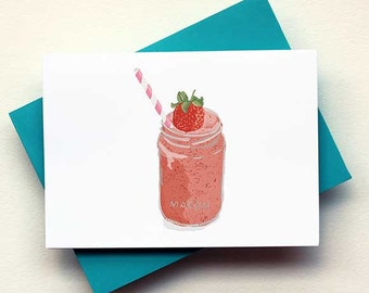 Strawberry Smoothie Card