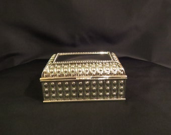 Customized Laser Engraved Metal Beaded Jewelry Box