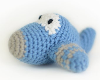 Airplane Baby Rattle Plane Crochet, Baby Shower Boy Girl Gift