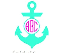 Monogram SVG Anchor - Svg Files - SVG Cutting Files - Cutting Files for Silhouette Cameo or Cricut - Instant Download -