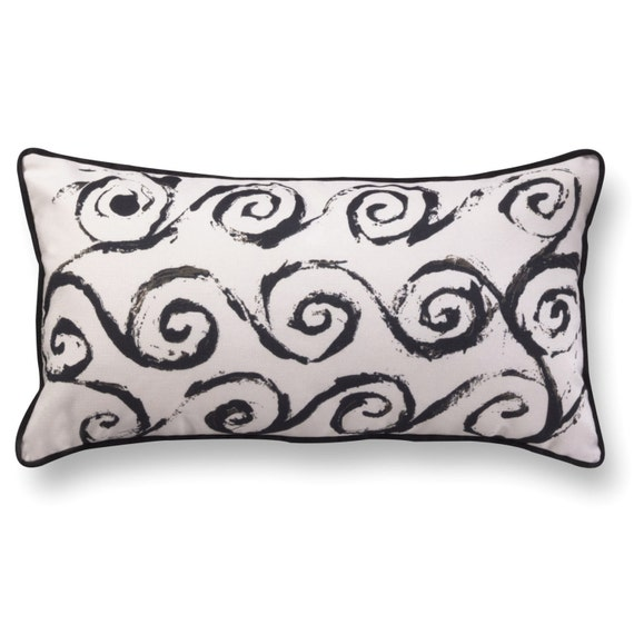Long Rectangular Decorative Pillows : Geometric print long pillow rectangle velvet cushion black