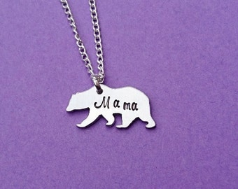 mama bear necklace, mama bear, new mom gift, baby shower gift, momma bear, mothers day gift, bear necklace, bear pendant, bear jewelry, bear
