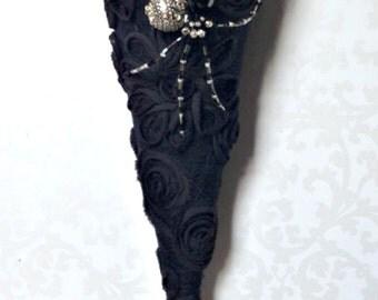 Halloween Cone, Tussie Mussie, Halloween Decoration, Victorian Cone