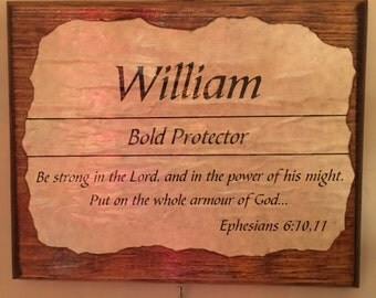 Personalized Scripture Plaques