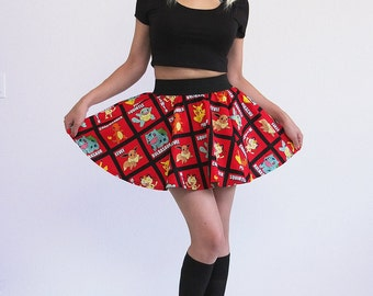 Pikachu Pokemon Circle Skirt