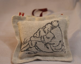 Lavender Sachet Couple On The Beach