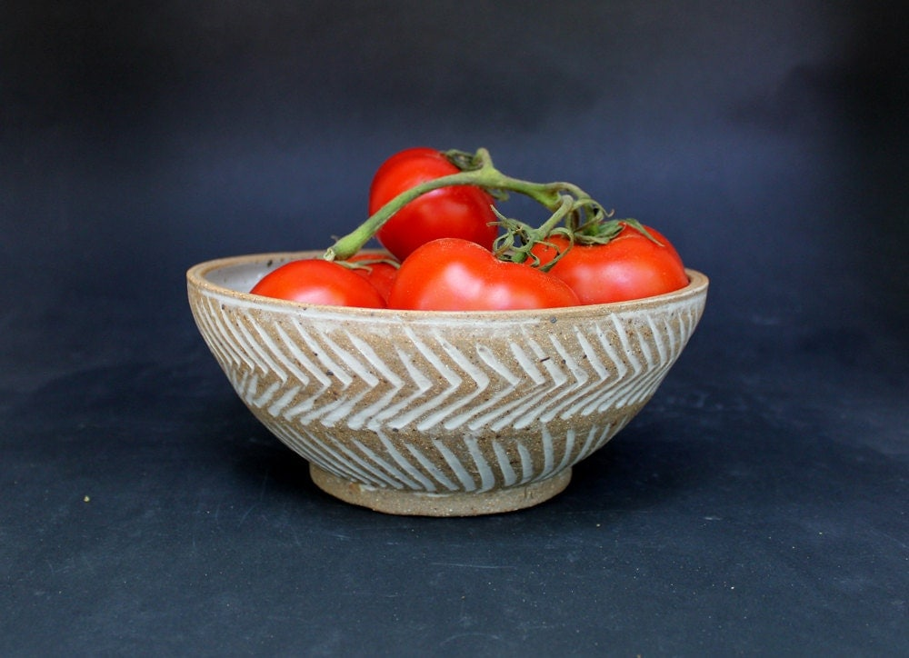 Pottery Serving Bowl Handmade Dinnerware Stoneware