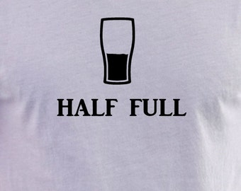 Glass half full  print T-shirt
