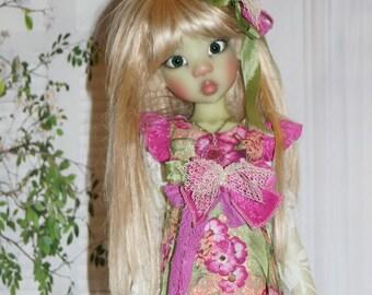 LA Floral dress   By 2SnSb fits Kaye Wiggs MSD size  MIKI,  or layla