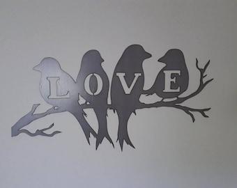 Love Birds Metal Art