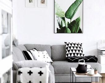 Banana Leaves Poster, Printable Poster, Modern Art, Exotic Wall Art, Printable Wall Art Decor, Banana Decor, Scandinavian Decor, Scandinav
