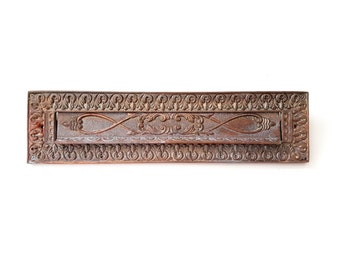 Antique solid bronze mail slot   Letter slot   Portugal #185A660X10