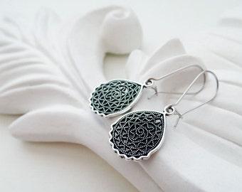 Silver Abstract Earrings | Silver Filigree Earrings