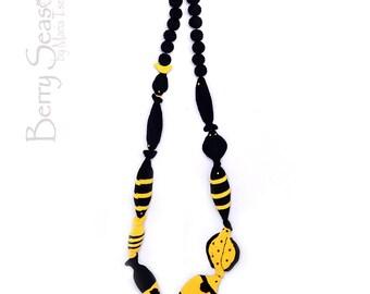 Fish crochet beads
