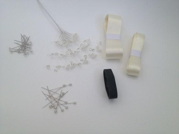 DIY Wedding Flower Buttonhole Kit Ribbon Floristry By FaithBridal