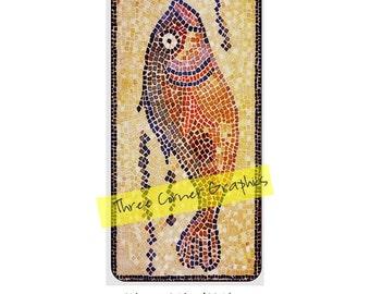 iPhone 6+ printable case design (Roman fish mosaic), DIY print at home iPhone accessories for 6 Plus, 6S Plus