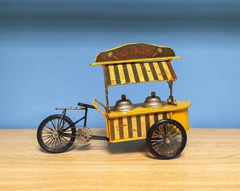 Vintage ice cream tricycle decorative collectible miniature & coin bank,metal bike,ice cream tricycle machine miniature,summer,home decor