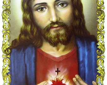 Tile of the sacred heart of Jesus
