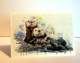 I Otterly Adore You Greeting Card