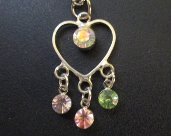 """18"""" Doll Jewelry Dangle Heart Charm Necklace American Girl Accessory"""