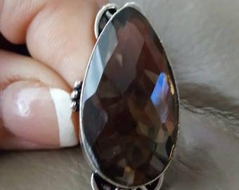 Smokey Topaz Ring- size 7.5!