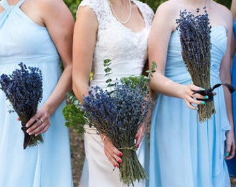 5 ENGLISH LAVENDER Bouquets | Wedding | Organic Dried English Lavender | Fragrant | X- Large bundles | Simple Bridesmaid | Made in USA