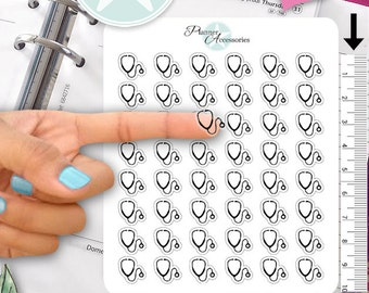 Clear Doctor Stickers Nurse Stickers Planner Stickers Erin Condren Functional Stickers Decorative Stickers NR359