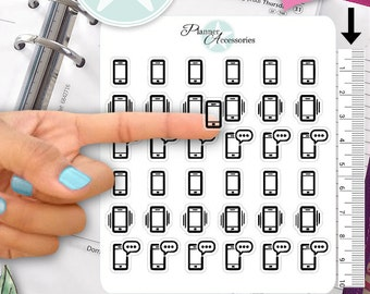 Clear Phone Stickers Cell Phone Planner Stickers Telephone Planner Stickers Erin Condren Live Planner Functional Stickers Decal Sticker 399