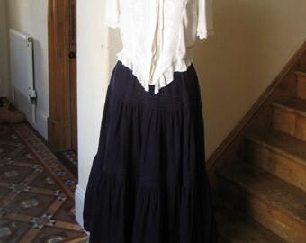 Laura Ashley Corduroy Steam Punk Skirt M