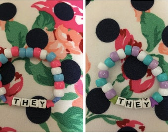 Gender bracelet (him/her/they, male, female, nonbinary, trans, transgender)