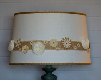 Multi-flowered Vintage Looking Lampshade