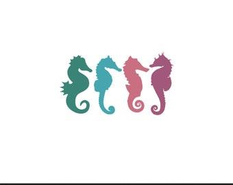 sea horse minnie mouse svg dxf jpeg png file instant download stencil monogram frame silhouette cameo cricut clip art