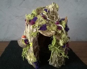 The Purple Moss ~ ooak Faerie House